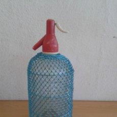Coleccionismo Otros Botellas y Bebidas: SIFON CON PROTECCION MALLA METALICA BLANDINIERES. Lote 216743112