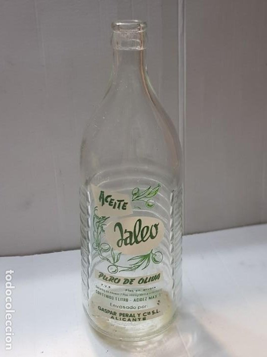 BOTELLA ACEITE JALEO ÚNICA EN TC PIEZA ÚNICA (Coleccionismo - Otras Botellas y Bebidas )