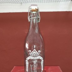 Coleccionismo Otros Botellas y Bebidas: BOTELLA DE GASEOSA ESPUMOSOS SAN CRISTÓBAL DE TOMELLOSO. Lote 218751113
