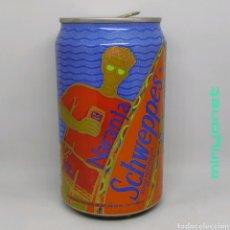 Coleccionismo Otros Botellas y Bebidas: LATA VACÍA DE SCHWEPPES NARANJA 1992. Lote 222514250