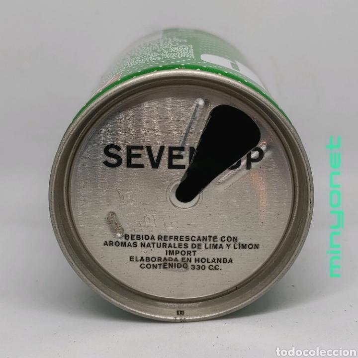 Coleccionismo Otros Botellas y Bebidas: Lata vacía seven up - 7up años 80 - Foto 3 - 222631960