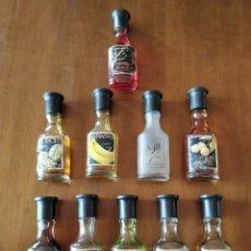 Coleccionismo Otros Botellas y Bebidas: LOTE 10 BOTELLINES- LICORES EN MINIATURA TEICHENNÉ.. Lote 222652831