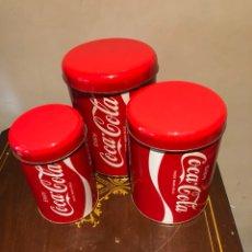 Coleccionismo Otros Botellas y Bebidas: LOTE DE 3 LATAS COCA COLA. Lote 230027535