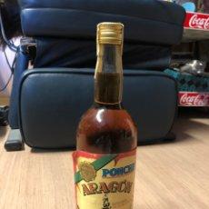 Coleccionismo Otros Botellas y Bebidas: BOTELLA ANTIGUA DE PONCHE ARAGON SIN ABRIR. Lote 231315670