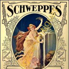Collectionnisme d'Autres Bouteilles et Boissons : SCHWEPPES SODA WATER - CARTELES - IMAGENES - PUBLICIDAD - BEBIDAS SIN ALCOHOL. Lote 231875445
