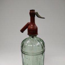 Coleccionismo Otros Botellas y Bebidas: SIFÓN ANTIGUO CARBONICAS MALLOFRE TARRASA PLOMO. Lote 232949350
