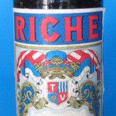 Coleccionismo Otros Botellas y Bebidas: BOTELLA SI ABRIR DE VERMUT RICHE. TIPO ITALIANO. LA TARRACO VINÍCOLA. SALOMÓ, TARRAGONA, SIN FECHA.. Lote 233081950