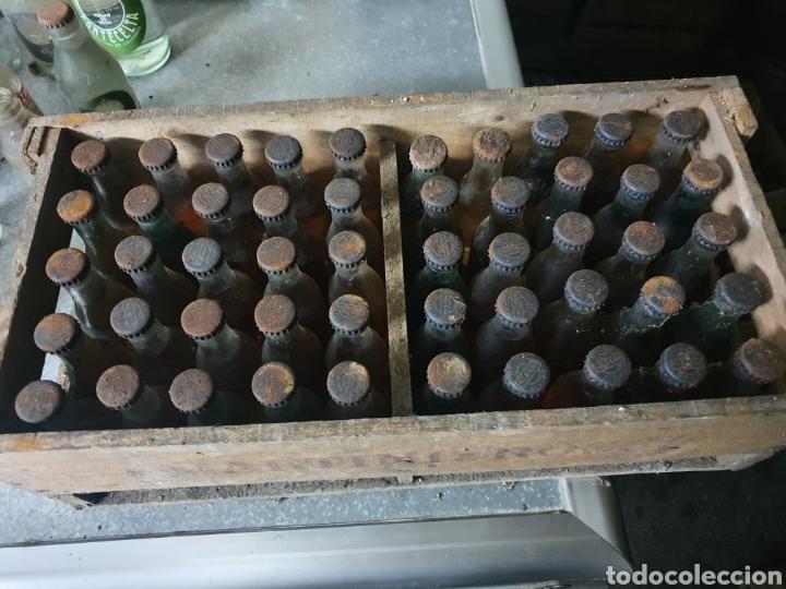 Coleccionismo Otros Botellas y Bebidas: Caja madera Martini blanco + 50 botellines - Foto 3 - 235177810