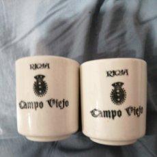 Coleccionismo Otros Botellas y Bebidas: VASOS DE CERÁMICA CAMPO VIEJO. Lote 236175355