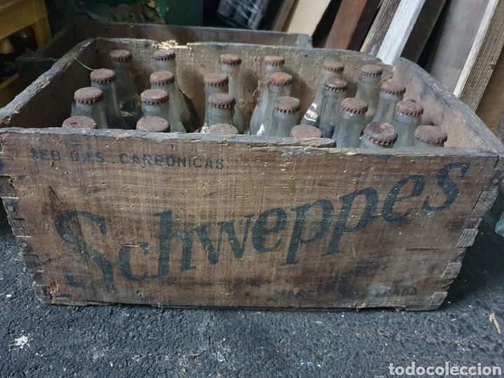 Coleccionismo Otros Botellas y Bebidas: Caja Schweppes Cola + 24 botellines - Foto 2 - 236243845