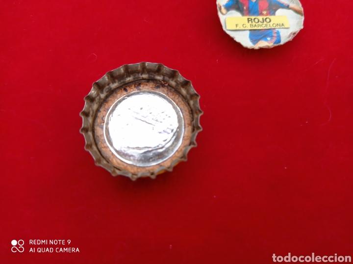 Coleccionismo Otros Botellas y Bebidas: CHAPA LECHE PULEVA CORCHO Y CROMO FÚTBOL VER FOTOS - Foto 2 - 236705855