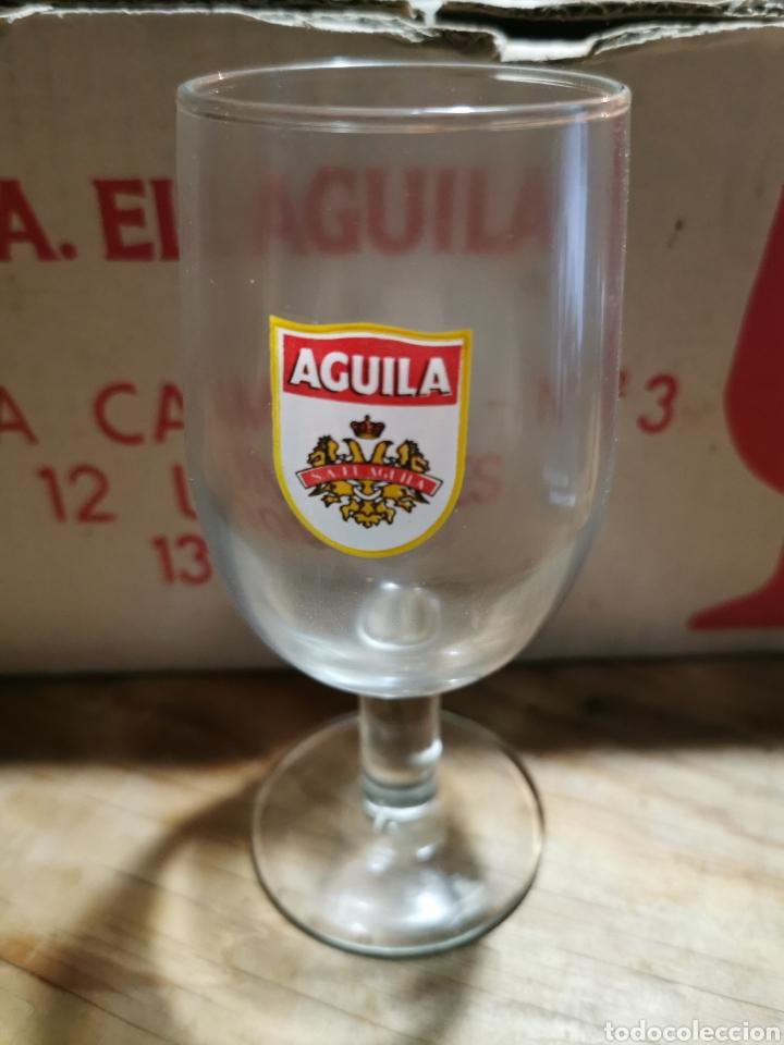 LOTE DE 12 COPAS S. A. EL ÁGUILA EN SU CAJA ORIGINAL. (Coleccionismo - Otras Botellas y Bebidas )