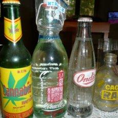 Coleccionismo Otros Botellas y Bebidas: LOTE 4 BOTELLAS ANTIGUAS Y RARAS ONDINA CASERA RAM VINTAGE. Lote 241895890