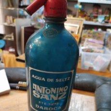 Coleccionismo Otros Botellas y Bebidas: RARO SIFON ANTONIO SANZ DAROCA. Lote 244653375