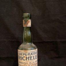 Coleccionismo Otros Botellas y Bebidas: DEPURATIVO RICHELET. Lote 246169225