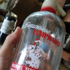 Coleccionismo Otros Botellas y Bebidas: SIFÓN MANUEL TEMPRADO TRAVESIA DEL CRISTO LA RODA ALBACETE. PIEZA RARA. VITRINA DESPACHO.. Lote 247485520