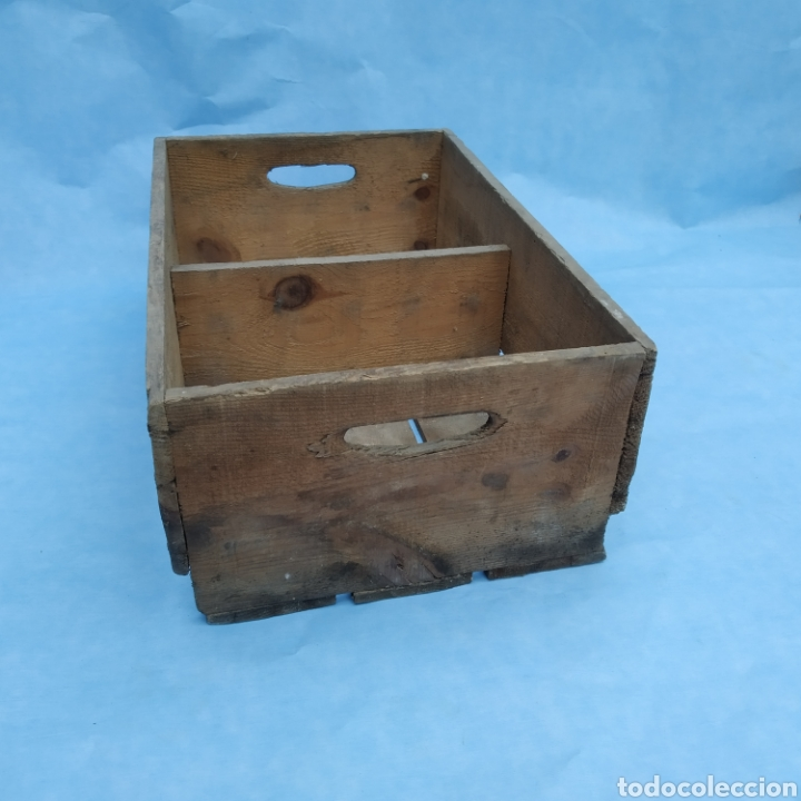 Coleccionismo Otros Botellas y Bebidas: Antigua caja de madera de botellas CINZANO años 50 - 60 - Foto 4 - 249278295