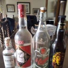 Coleccionismo Otros Botellas y Bebidas: 4 BOTELLAS ANTIGUAS (2 SIN ABRIR ,2 CASCOS). Lote 253833995