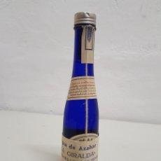 Coleccionismo Otros Botellas y Bebidas: AGUA DE AZAHAR ,LA GIRALDA, HIJOS DE LUCA DE TENA , LLENA. Lote 253841475
