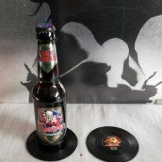 Coleccionismo Otros Botellas y Bebidas: CUATRO POSAVASOS IMITACIÓN VINILO.. Lote 254879550