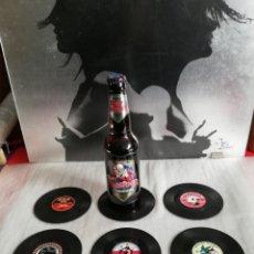 Coleccionismo Otros Botellas y Bebidas: SEIS POSAVASOS IMITACIÓN VINILO.. Lote 254885450
