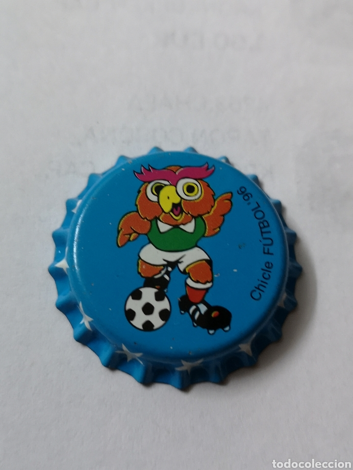 A17. TAPON CORONA. CROWN CAPS. CHICLE FUTBOL 96 (Coleccionismo - Otras Botellas y Bebidas )