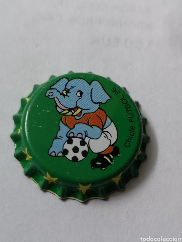 A21 TAPON CORONA. CROWN CAPS. CHICLE FUTBOL 96 (Coleccionismo - Otras Botellas y Bebidas )
