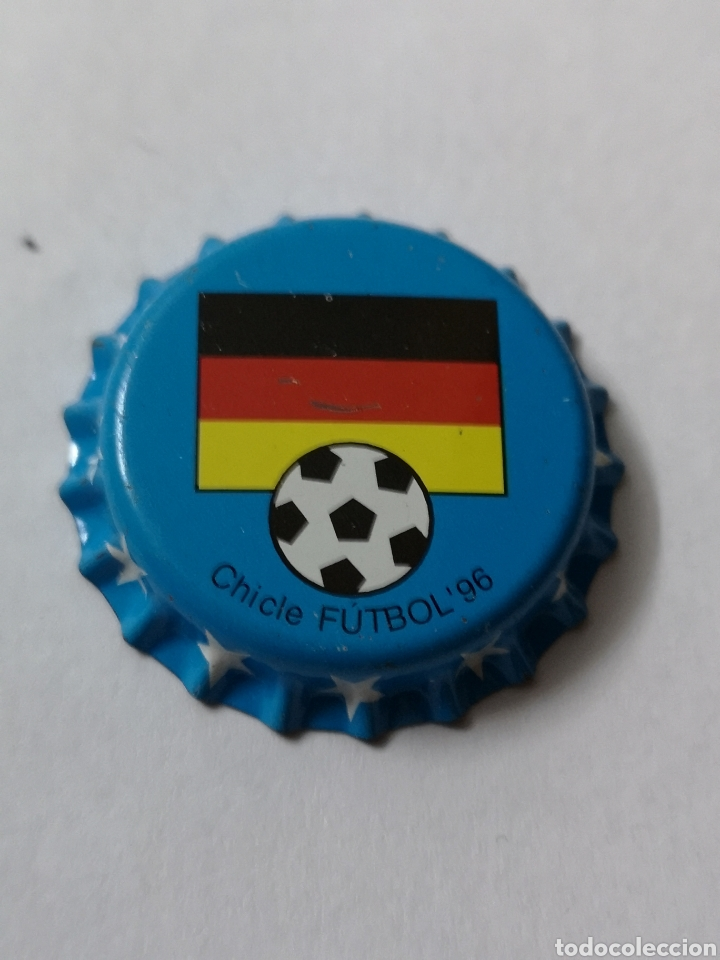 A30. TAPON CORONA. CROWN CAPS. CHICLE FUTBOL 96 (Coleccionismo - Otras Botellas y Bebidas )
