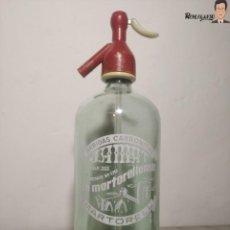Coleccionismo Otros Botellas y Bebidas: ANTIGUO SIFÓN BEBIDAS CARBONICAS LA MARTORELLENSE - J. AMAT MARTORELL - SERIGRAFIADO (BUEN ESTADO). Lote 259864205