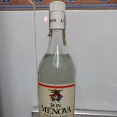 Coleccionismo Otros Botellas y Bebidas: BOTELLA ANTIGUA RON MENOVA LARIOS PRECINTADA SIN ABRIR 1L IDEAL COLECCIONISTA. Lote 260730415