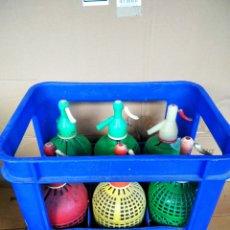 Coleccionismo Otros Botellas y Bebidas: ANTIGUA CAJA DE SIFONES 6 UNIDADES. Lote 261245730