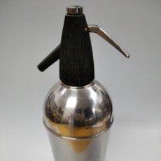 Coleccionismo Otros Botellas y Bebidas: SIFON ANTIGUO ANFA ACERO INOXIDABLE NEGRO. Lote 261246635