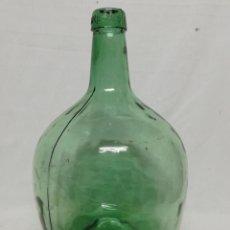 Coleccionismo Otros Botellas y Bebidas: DAMAJUANA. GARRAFA DE CRISTAL VERDE. 8 L. VIRESA. VI. Lote 261275450