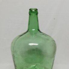 Coleccionismo Otros Botellas y Bebidas: DAMAJUANA. GARRAFA DE CRISTAL VERDE. 8 LITROS. V. Lote 261275825