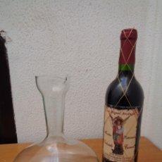 Coleccionismo Otros Botellas y Bebidas: ¡¡ LOTE: BOTELLA VINO, ( GRAN RESERVA.) Y DECANTADOR, CRISTAL. !!. Lote 262859825