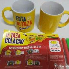 Coleccionismo Otros Botellas y Bebidas: COLA CAO - TAZAS PARA DISEÑAR. Lote 267783779