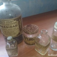 Coleccionismo Otros Botellas y Bebidas: 5 BOTES FARMACIA. Lote 268403454