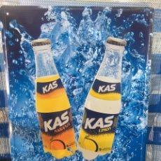 Coleccionismo Otros Botellas y Bebidas: CHAPA PUBLICITARIA REFRESCOS KAS. Lote 268937619