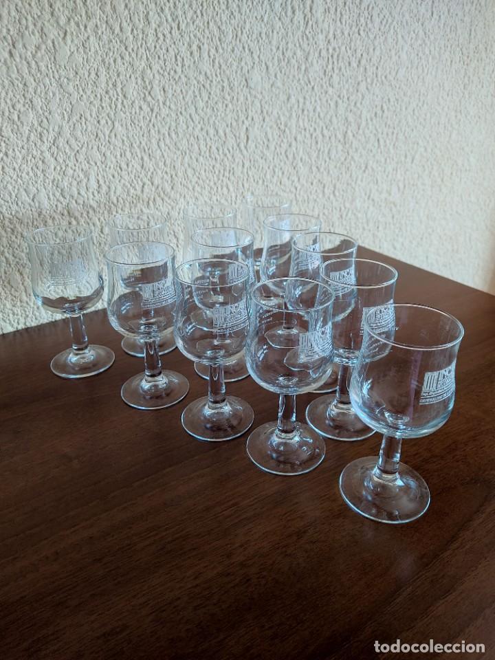 Coleccionismo Otros Botellas y Bebidas: Lote de 12 copas de cristal de la muestra de vinos Incavi año 1988 - Foto 3 - 272011163