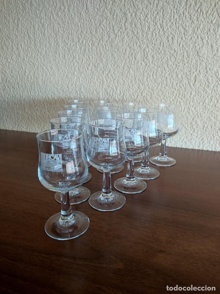 Coleccionismo Otros Botellas y Bebidas: Lote de 12 copas de cristal de la muestra de vinos Incavi año 1988 - Foto 4 - 272011163
