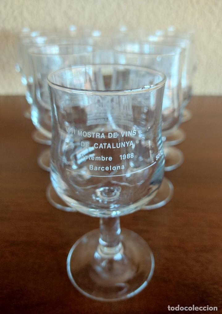 Coleccionismo Otros Botellas y Bebidas: Lote de 12 copas de cristal de la muestra de vinos Incavi año 1988 - Foto 5 - 272011163