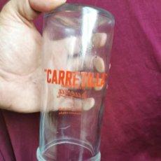 Coleccionismo Otros Botellas y Bebidas: BOTE DE CRISTAL. ESPÁRRAGOS CARRETILLA. INDUSTRIAS MUERZA,NAVARRA.AÑOS 50,RARA.. Lote 276362863