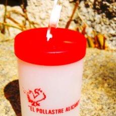 Coleccionismo Otros Botellas y Bebidas: 1969-1970 - RECIPIENTE PARA GRASA DE EL POLLASTRE ALICANTI, PIONERO ASADOR DE POLLOS. Lote 279431568