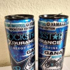 Coleccionismo Otros Botellas y Bebidas: BOTE - LATA BEBIDA ENERGIZANTE ROCKSTAR ROCK STAR -X DURANCE YAMAHA - JORGE LORENZO MOTO GP. Lote 286469333