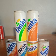 Coleccionismo Otros Botellas y Bebidas: 6 LATAS ANTIGUAS DE FANTA ESTAN EN BUEN ESTADO VER FOTOS. Lote 286572108