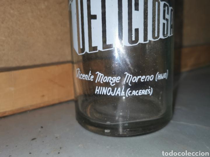 Coleccionismo Otros Botellas y Bebidas: Gaseosa de Extremadura botella muy rara La delisiosa Hinojal - Foto 4 - 287620823