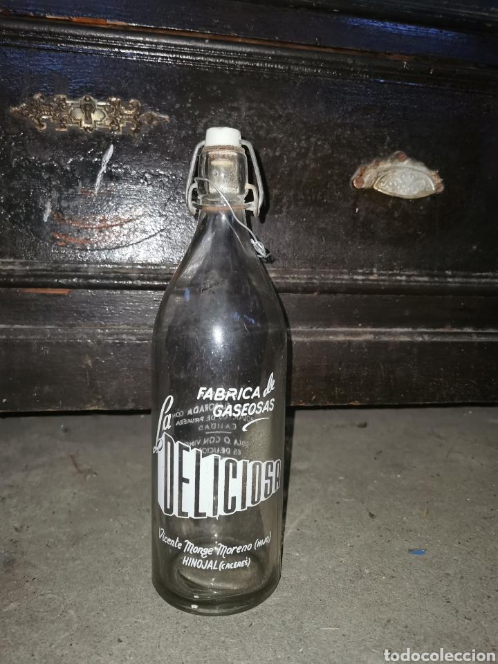 Coleccionismo Otros Botellas y Bebidas: Gaseosa de Extremadura botella muy rara La delisiosa Hinojal - Foto 7 - 287620823