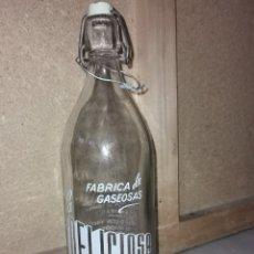 Coleccionismo Otros Botellas y Bebidas: GASEOSA DE EXTREMADURA BOTELLA MUY RARA LA DELISIOSA HINOJAL. Lote 287620823