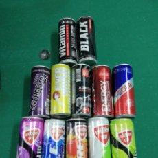 Coleccionismo Otros Botellas y Bebidas: LOTE 12 LATAS VACÍAS BEBIDAS ENERGÉTICAS VARIADAS 250 ML. Lote 287898523