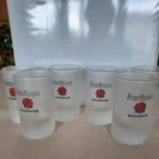 Coleccionismo Otros Botellas y Bebidas: 6 VASOS CHUPITO FOUR ROSES BOURBON. Lote 288514268